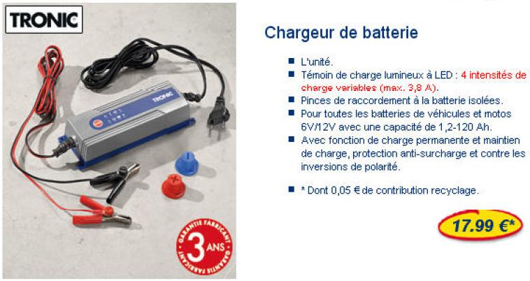 chargeur batterie lidl notice